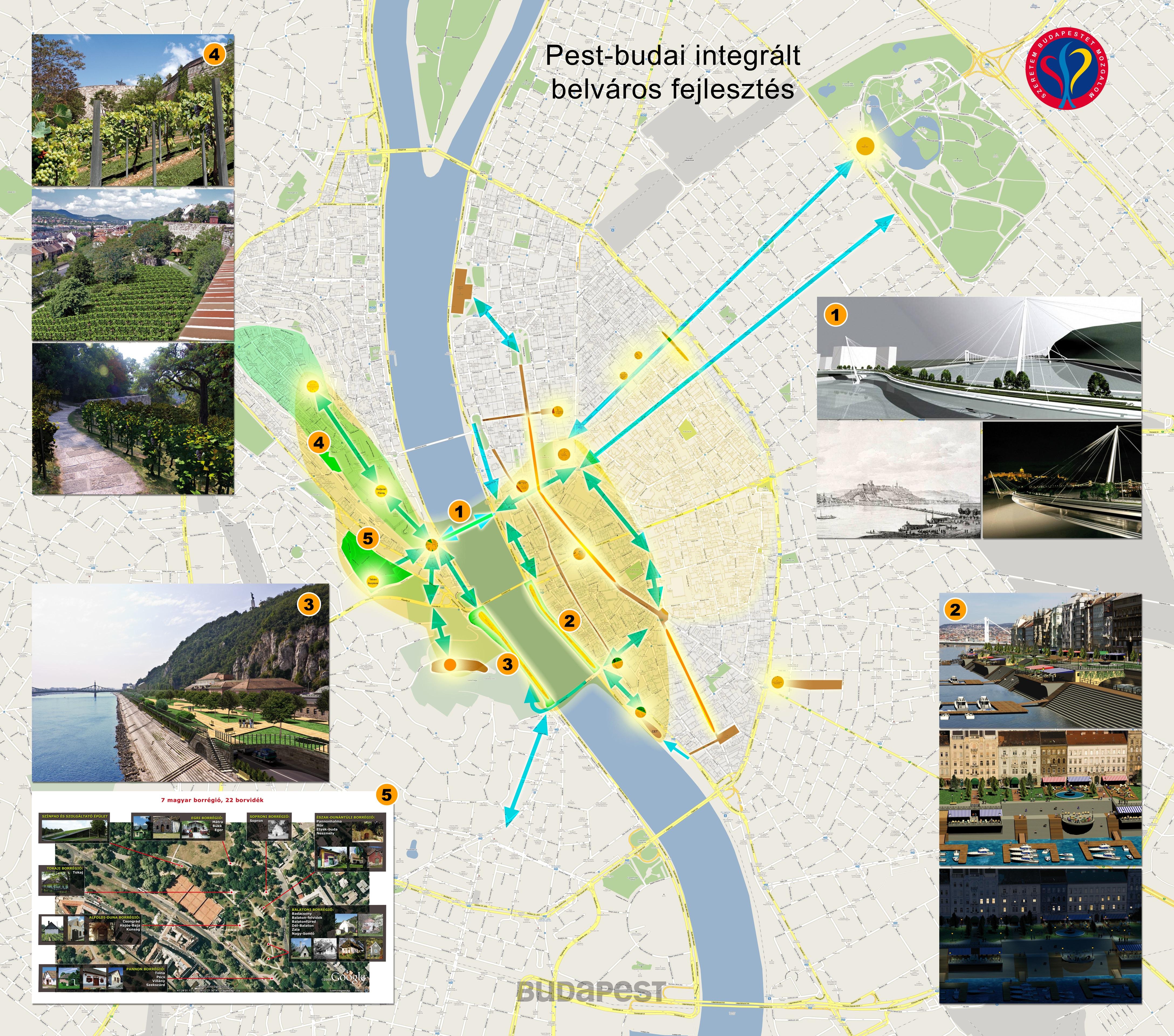 Összefoglaló városfejlesztési térkép