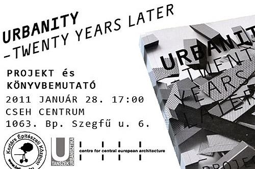 Urbanity twenty years later: Projekt és könyvbemutató