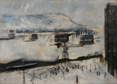 Bernáth Aurél: Téli tájkép