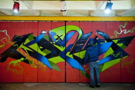 """A graffitisek a """"maguk képére"""" formálhatták az Almássy Hall-t"""