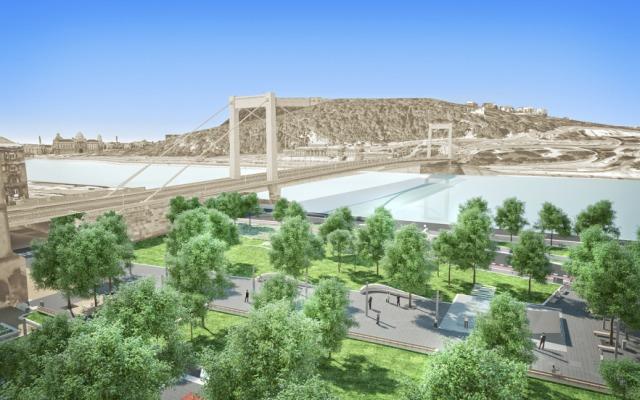 Erzsébet híd pesti hídfője - birtokba vehetik a gyalogosok