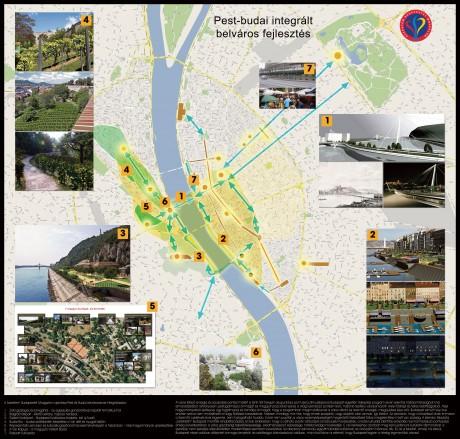 A SZeBu összefoglaló városfejlesztési térképe