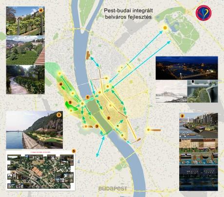 Pest-budai  integrált beváros fejlesztési térkép