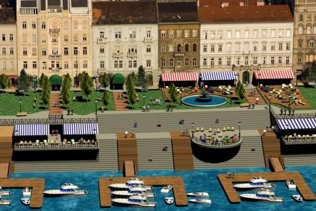 A Belgrád rakpart nappal