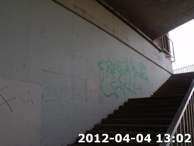 Falfirka a Rákóczi híd pesti hídfőjénél