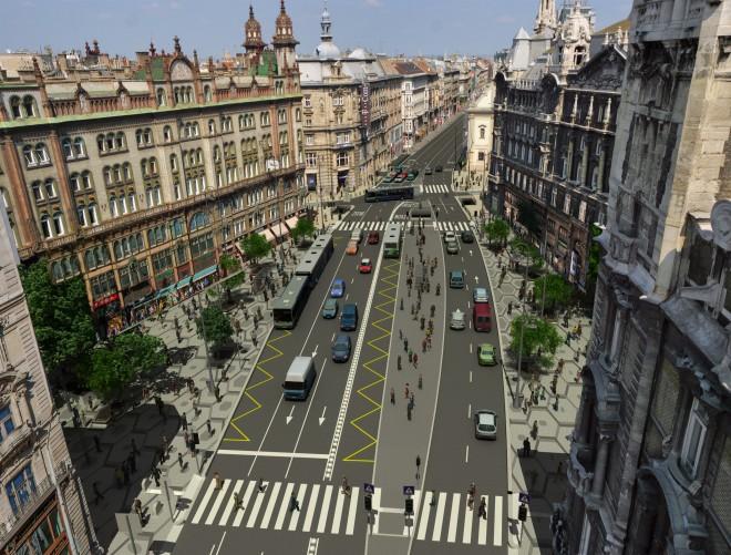 A Ferenciek tere az átalakítás után (forrás: welovebudapest.com)